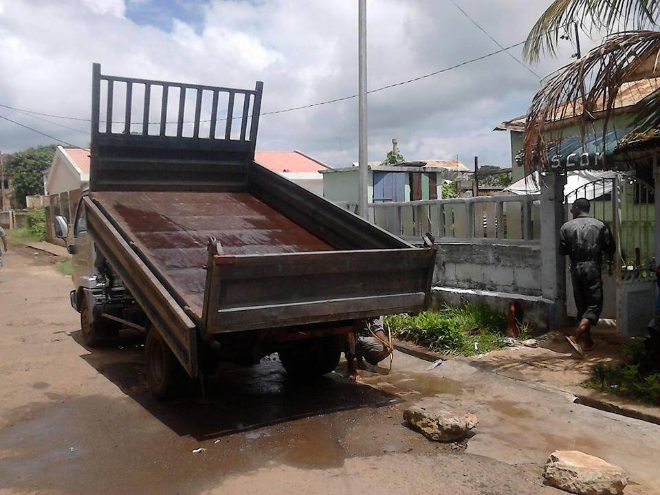 Camion de transport utilisé par SCOM